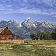 Moulton Barn In The Tetons Poster