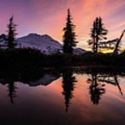 Mount Baker Sunrise Reflection Poster