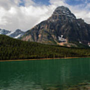 Mount Chephren From Waterfowl Lake - Banff National Park Poster