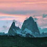 Mount Fitz Roy At Dusk Poster