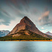 Mount Grinnell In Glacier Np Poster
