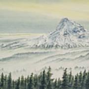 Mount Hood Evening Poster