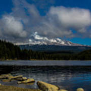 Mount Hood From Across Lake Trillium Poster