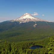 Mount Hood Over Mirror Lake Poster
