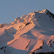 Mount Hood Sunset Glow Poster