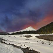 Mount Hood Winter Wonderland Poster