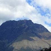 Mount Imbabura And Cloudy Sky Poster