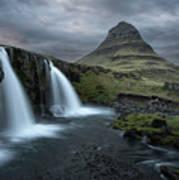 Mount Kirkjufell Iceland Poster