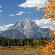 Mount Moran In Autumn Poster