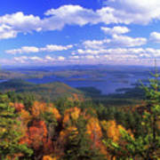 Mount Morgan Squam Lake Foliage Poster