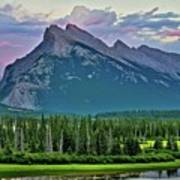 Mount Norquay At Dusk Poster