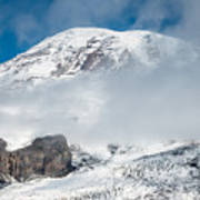 Mount Rainier Behind Clouds 3 Poster