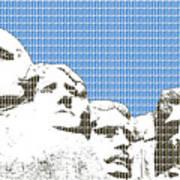 Mount Rushmore - Blue Poster