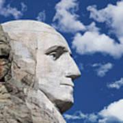Mount Rushmore Profile Of George Washington Poster