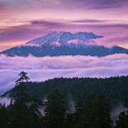 Mount Saint Helens Sunset Poster
