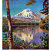 Mount Saint Helens Vintage Travel Poster Restored Poster
