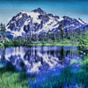 Mount Shuksan And Picture Lake Poster