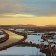 Mount Sugarloaf Winter Sunset Poster