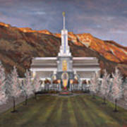 Mount Timpanogos Temple Poster by Jeff Brimley