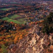 Mount Tom Ridge Autumn View Poster