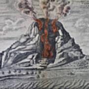 Mount Vesuvius, 1665 Poster