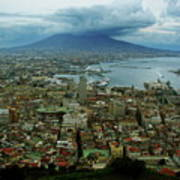 Mount Vesuvius Naples It Poster