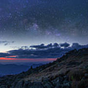 Mount Washington Summit Milky Way Panorama Poster