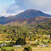 Mount Zeehan Valley Town. West Tasmania Australia Poster
