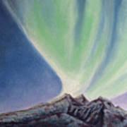 Mountain Aurora Poster