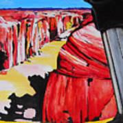 Mountain Bike Moab Slickrock Poster by Susan M Woods
