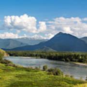 Mountain Filaretka Over Katun River. Altay Poster