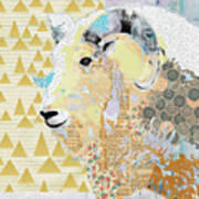 Mountain Goat Collage Poster