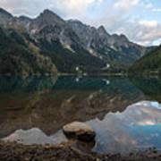 Mountain Lake Reflection Poster
