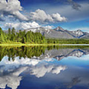 Mountain Lake With Reflection Poster
