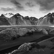 Icelandic Mountain  Landscape Poster
