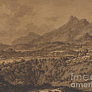 Mountain Landscape With A Hollow Poster