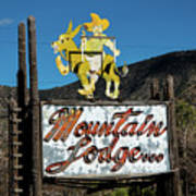 Mountain Lodge Sign Poster