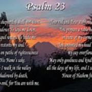 Mountain Morning Prayer Poster