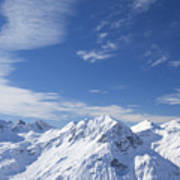 Mountain Panorama Lech Near St Saint Anton Am Arlberg Austria Poster