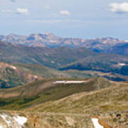 Mountain Range From Mount Evans Summit Poster