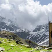 Mountain Refuge Of Mount Viso Poster