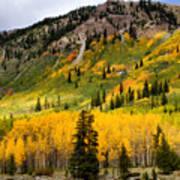 Mountain Side Autumn Poster