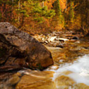 Mountain Stream In Autumn Poster by Utah Images