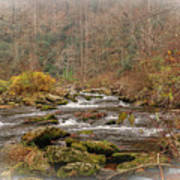 Mountain Stream With Vignette #2 Poster