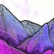 Mountain Texture Poster