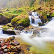 Mountain Waterfall Poster