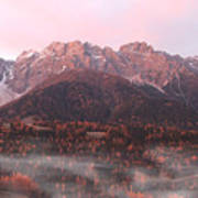 Mountains At Dawn Poster