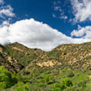 Mountains At Towsley Canyon In Southern California Poster