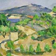 Mountains In Provence Poster by Paul Cezanne