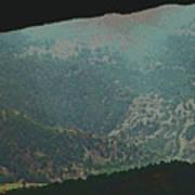 Mountains Peeking Through Poster